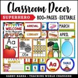 Superhero Classroom Decor