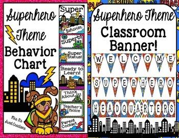 Superhero Theme Classroom Decor Bundle