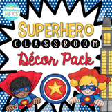 Superhero Theme Classroom Decor {Editable}