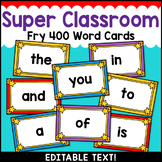 Superhero Theme Classroom Decor Fry Word Wall Cards