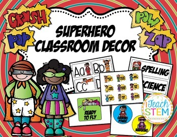 Superhero Theme Classroom Decor Kit