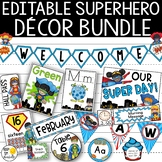 Superhero Theme Classroom Decor Bundle Editable: Superhero Classroom Theme Decor
