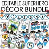 Superhero Theme Classroom Decor/ Editable Superhero Classroom Theme Decor Bundle