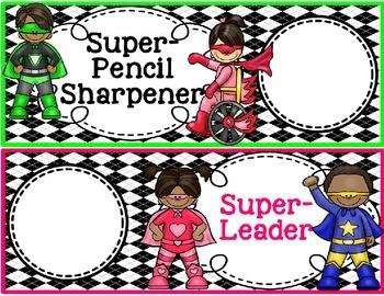 Superhero Theme-Classroom Jobs