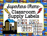 Superhero Theme-Classroom Supply Labels