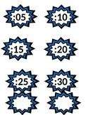 Superhero Theme Clock Labels