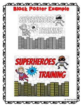 Superhero Theme Collaborative Poster!  Team Work - Superheroes in Training