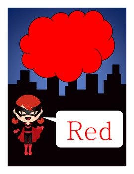 Superhero Theme Color Name Posters