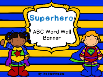 Superhero Theme Complete Classroom Decor Bundle