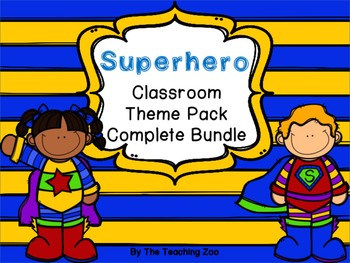 Superhero Theme Complete Classroom Decor Bundle