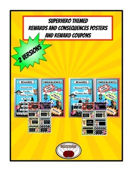 Superhero Theme Consequences and Rewards Posters