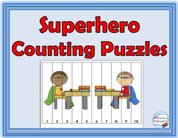 Superhero Theme Counting Puzzles - Numbers 1-120