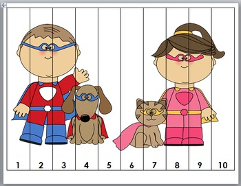 Superhero Math - Number Puzzles