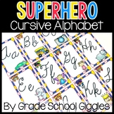Superhero Theme Cursive Alphabet