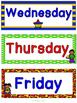 Superhero Theme Days of the Week