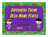 Superhero Theme Desk Name Plates