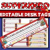 Superhero Name Tags For Desk Editable