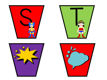 Superhero Theme Editable Labels
