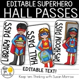 Superhero Hall Passes - Superhero Theme Classroom Decor