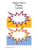 Superhero Theme Labels
