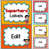 Superhero Theme Labels Classroom Decor