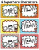 Superhero Theme Labels Classroom Decor