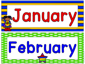 Superhero Theme Months of the Year Signs