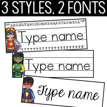 Superhero Theme Name Plates Editable! - Superhero Theme Classroom Decor