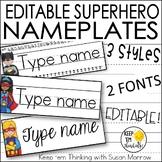 Superhero Name Plates Editable! - Superhero Classroom Decor