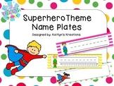 Superhero Theme Name Plates