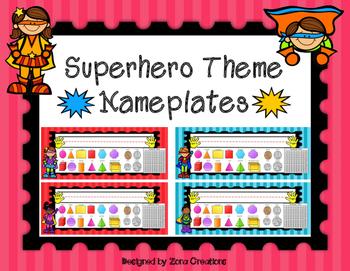 EDITABLE Superhero Theme Name Plates