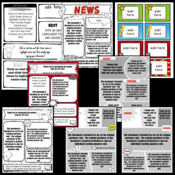 Superhero Newsletters| Teacher Templates | Editable