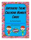 Superhero Theme Numbered Calendar Cards