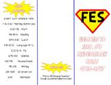 Superhero Theme Open House Parent Flyer - EDITABLE
