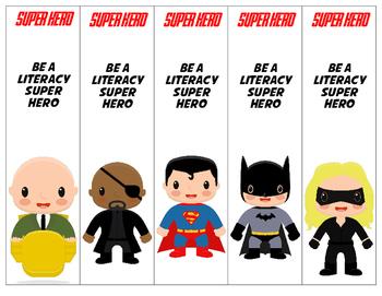 Superhero Theme Printable Bookmarks 15 different