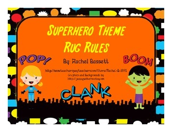 Superhero Theme Rug Rules