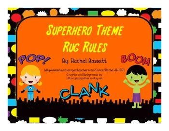 Superhero Theme Rug Rules