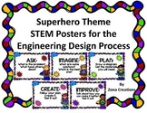 Superhero Theme STEM Posters for Engineering Design Process