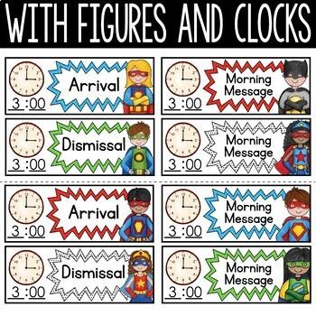 Superhero Schedule Cards - Editable!: Superhero Theme Classroom Decor