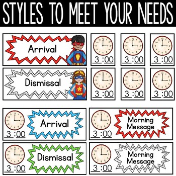 Superhero Schedule Cards - Editable!: Superhero Classroom Decor