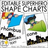 Superhero 2D and 3D Shape Posters - Superhero Classroom Decor