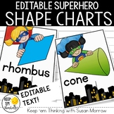 Superhero 2D and 3D Shape Posters - Superhero Classroom Decor