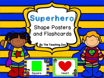 Superhero Theme Shape Posters and Flashcards