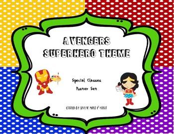 Superhero Theme Special Classes Poster Set