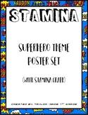 Superhero Theme Stamina Graph and Poster
