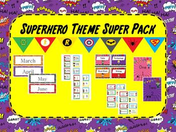 Superhero Theme Super Pack