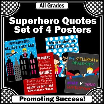 Superhero Theme, Back To School Classroom Decor, Inspirational Quotes