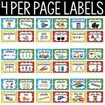 Superhero Supply Labels - Superhero Theme Classroom Decor