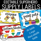 Superhero Supply Labels - Superhero Theme Classroom Decor