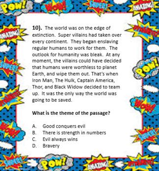 Superhero Theme Task Cards (Spiderman, Batman, Superman, and MORE!)